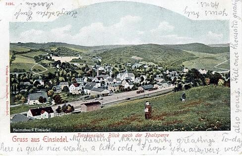 Lithografie, postalisch gelaufen am 10.04.1905