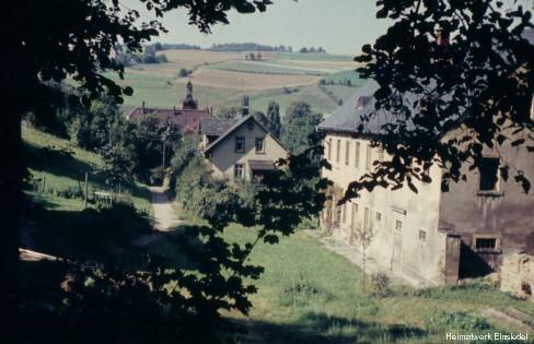 Stadtgut Einsiedel in den 1950er Jahren am Ende der Uferstraße