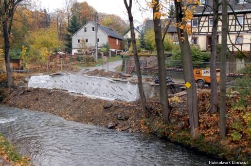 Erneuerung Uferstützmauer Einsiedel 2007