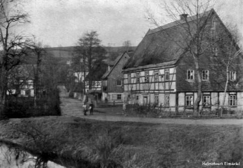 Uferstraße Einsiedel um 1910.
