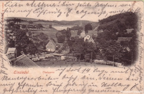 Blick vom Rathaus auf die Uferstraße um 1903