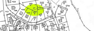 Katasterauszug Lage Pestilenz-Acker Einsiedel