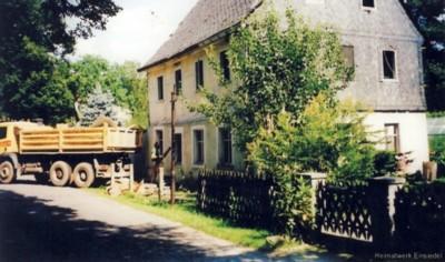 Abriss des Gebäudes Lindenstraße 1 in Einsiedel 1996