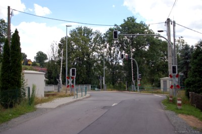 Bahnübergang Kurt-Franke-Straße in Einsiedel 2007