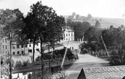 Bahnübergang Erfenschlager Straße in Einsiedel vor 1937