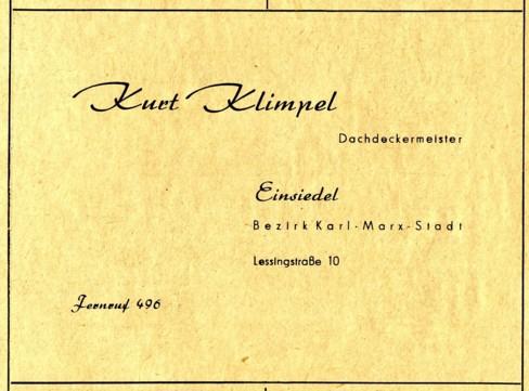 Werbung Kurt Klimpel 1955