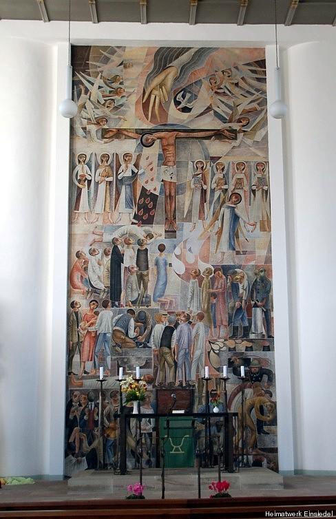 Das Altarbild der Kirche Einsiedel