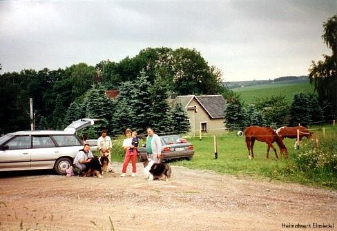 Evakuierung der Einsiedler Ortsmitte 1998 nach Bombenfund