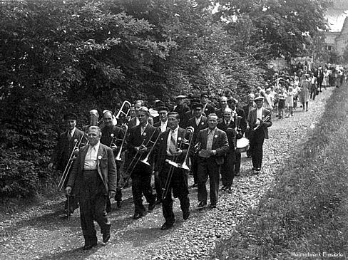Schulfest Einsiedel 1953 (Umzug)