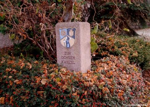 """""""Gedenkstein"""" für die Ochsenkanzel"""