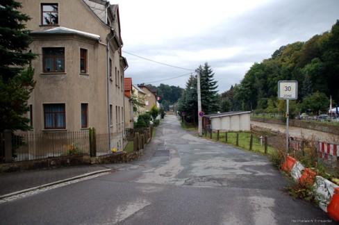 Beginn Fabrikstraße Einsiedel