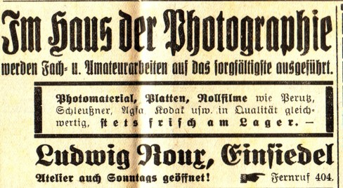 Annonce Fotograf Roux 1935