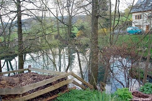 Reste vom Einsiedler Naturbad: Der Teich 2006