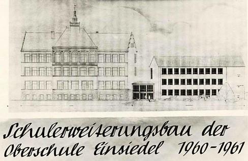 Schulneubau Einsiedel 1960-61
