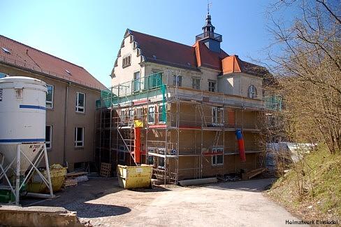 Sanierungsarbeiten am Anbau 2010