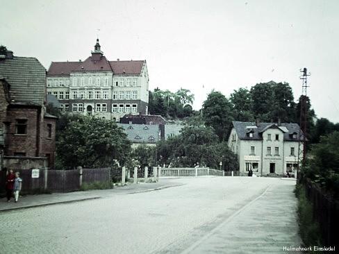 Schule Einsiedel, Diaaufnahme aus den 1950er Jahren