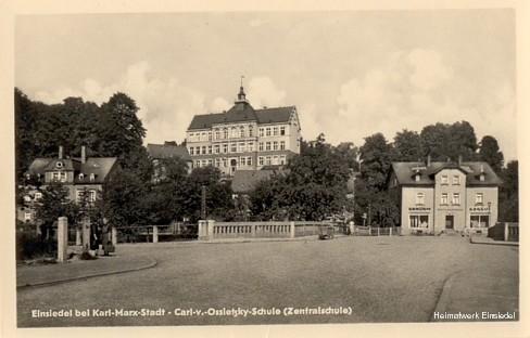 Zentralschule Carl-von-Ossietzky Einsiedel in den 1950er Jahren