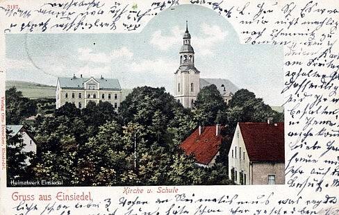 Einsiedler 3. Schule Kirchgasse 10 um 1903