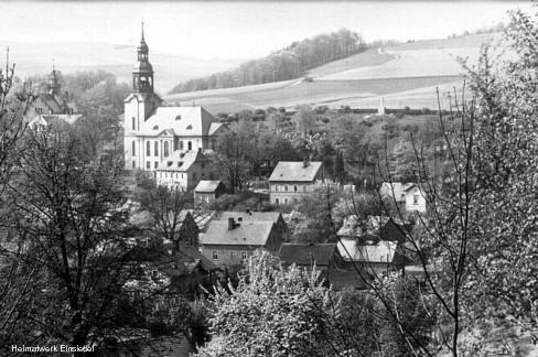 Pfarrhübel Einsiedel 1923, unmittelbar vor Bebauung