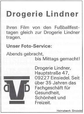 Annonce Drogerie Lindner 1993