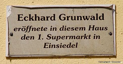 Gedenkplatte Eckhard Grunwald Einsiedel