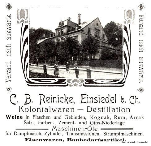 Werbung C.B. Reinicke 1905