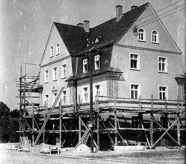 Bäckerei Hertel in Einsiedel, Reichsstraße, im Bau