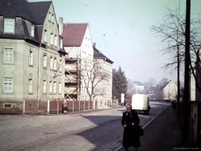 Neue Straße Einsiedel, oberer Teil in den 1950er Jahren