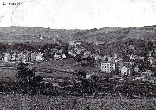 Einsiedel ohne Reichsstraße um 1914