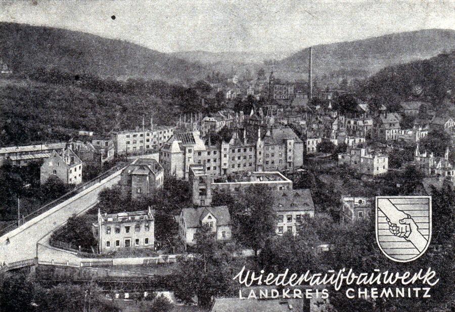 Zerstörtes Mitteldorf von Einsiedel 1946