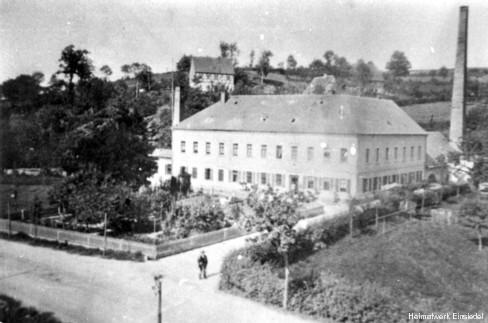 Wattefabrik Hahn in Einsiedel 1896