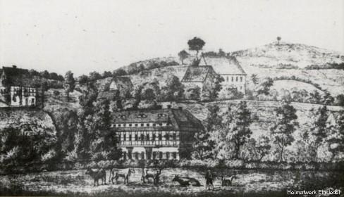 Niedere Mühle bzw. Gränitz-Mühle in Einsiedel um 1840