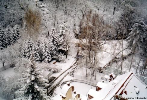 Ehemalige Stellfläche der Wattefabrik Hahn im Januar 2005