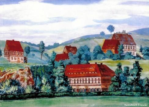 Gemälde Niedere Mühle Einsiedel