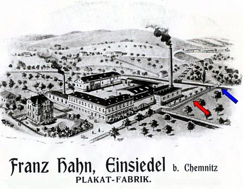 Werbeplakat Firma Hahn 1906