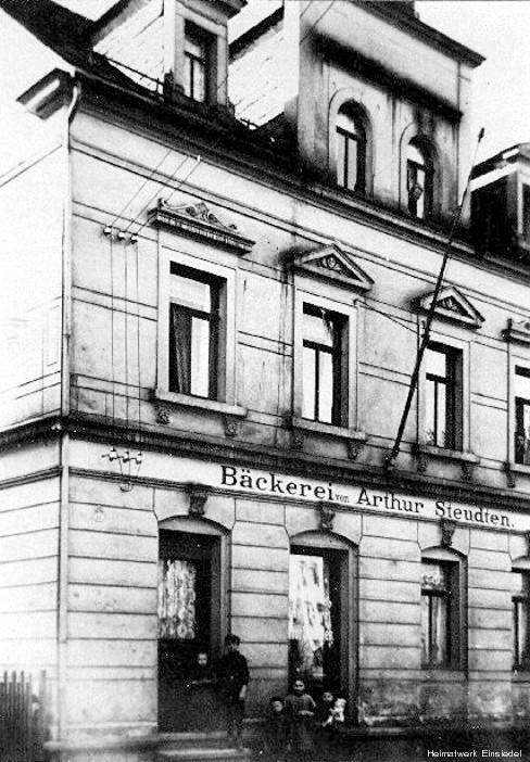 Bäckerei Steudten in Einsiedel um 1920