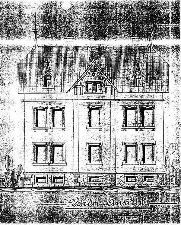 Bauzeichnung Mehrfamilienwohnhaus Hauptstr. 112 in Einsiedel 1901