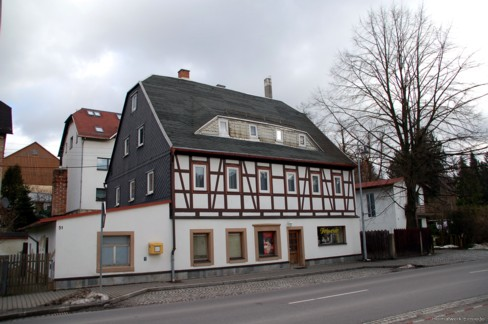 Fachwerkhaus Einsiedler Hauptstr. 51 im Februar 2007
