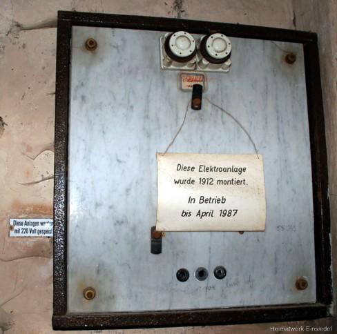 Elektrozählerplatz von 1912