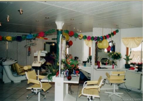 1999: 10 Jahre Friseursalon Hamar in Einsiedel