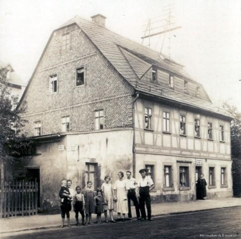 Plätt-Uhlig, Einsiedel, Hauptstr. 51 um 1912