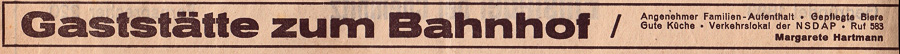 Werbeanzeiger im Chemnitzer Tageblatt, Oktober 1936