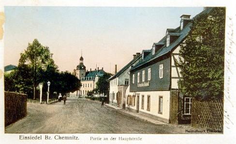 Blick Richtung Rathaus Einsiedel