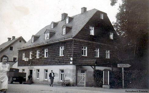 Restaurant zum Bahnhof in Einsiedel in den 1930er Jahren