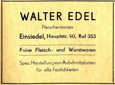 Werbung Walter Edel 1955
