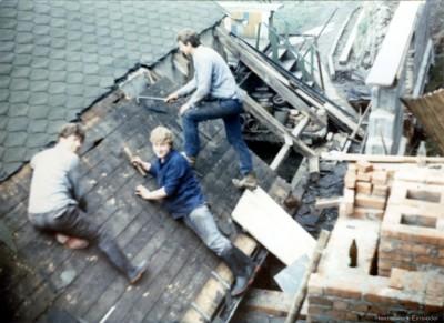 Anbau einer Räucherei 1985