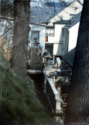Räuchereianbau bei der Fleischrei Edel in Einsiedel 1985