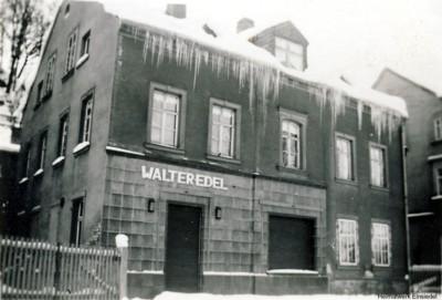 Fleischerei Edel, Einsiedel, Winter 1933