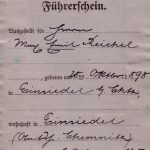Führerschein Emil reichel