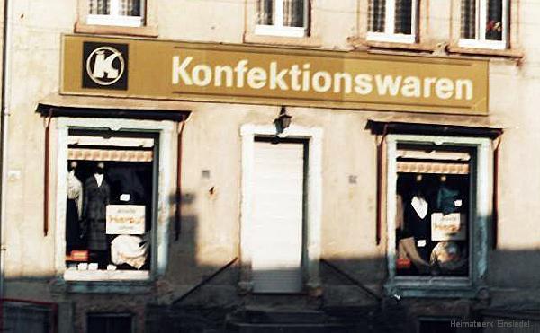 Konsum Konfektionswaren Einsiedel, frühe 1980er Jahre